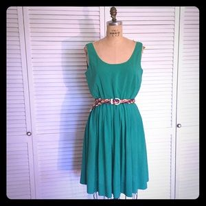 Kelly Green CALVIN KLIEN Flowing Sleeveless Dress